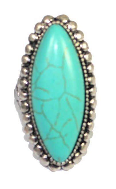 Peta Stretch Band Turquoise Ring (SS4029)