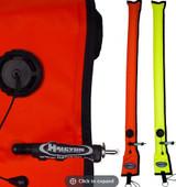 Blem Orange Big Diver's Alert Marker, 4.5'