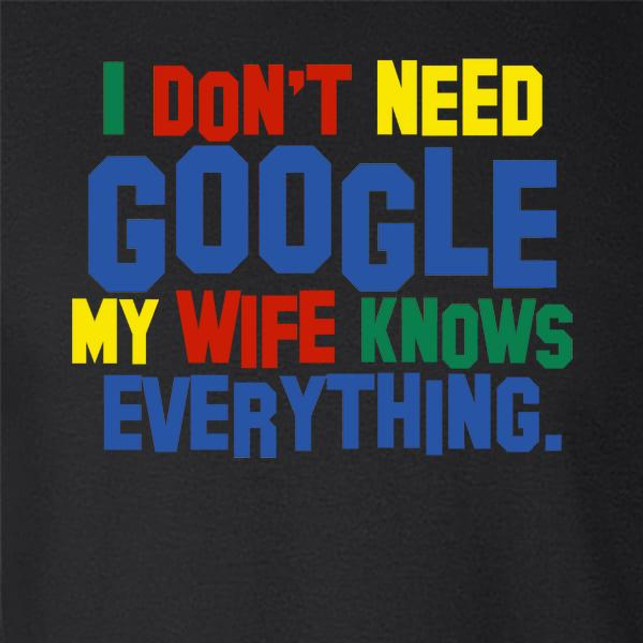 I Don/'t Need Google My Wife Knows Everything Answer It All Is Hoodie Sweatshirt