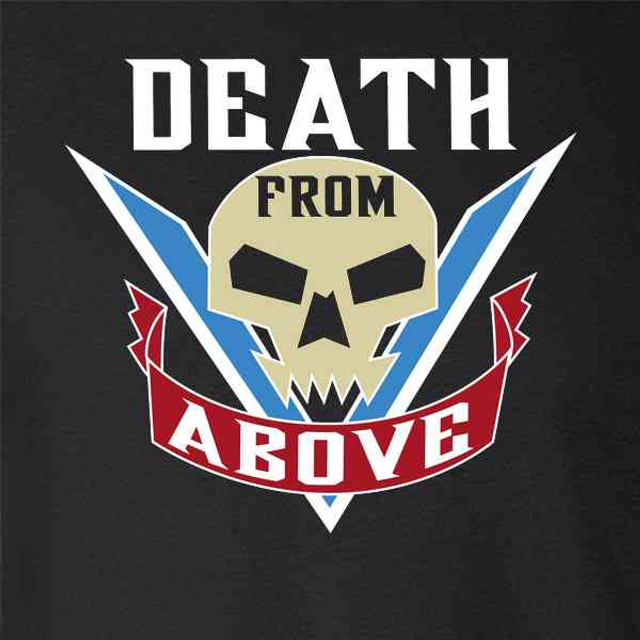 Pop Threads Death from Above Tattoo Mens Fleece Hoodie Sweatshirt
