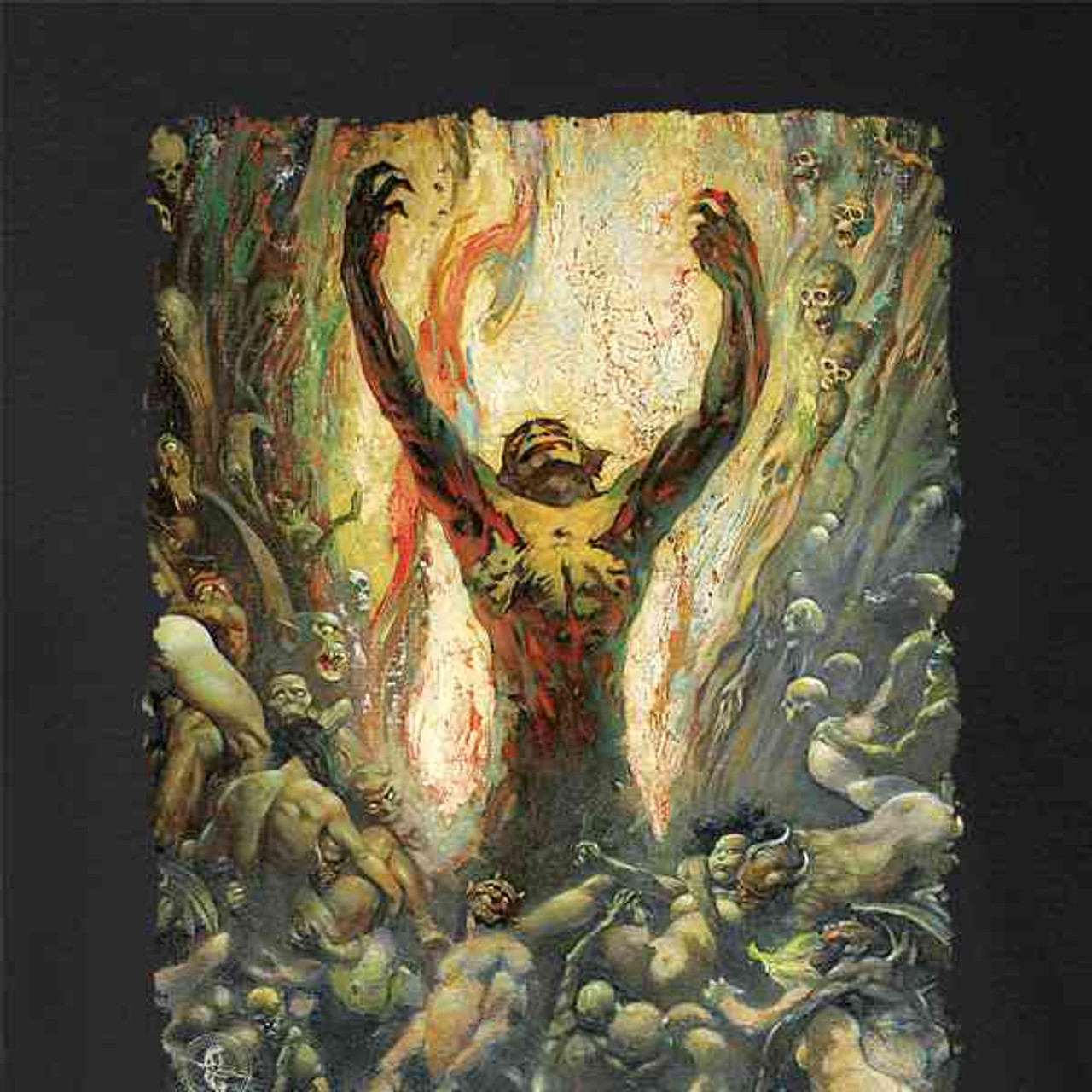The Brain by Frank Frazetta Art Mens Fleece Hoodie Sweatshirt