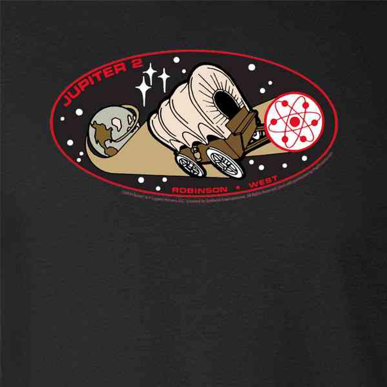 Lost in Space Jupiter 2 Gray 3XL Raglan Baseball Tee Shirt