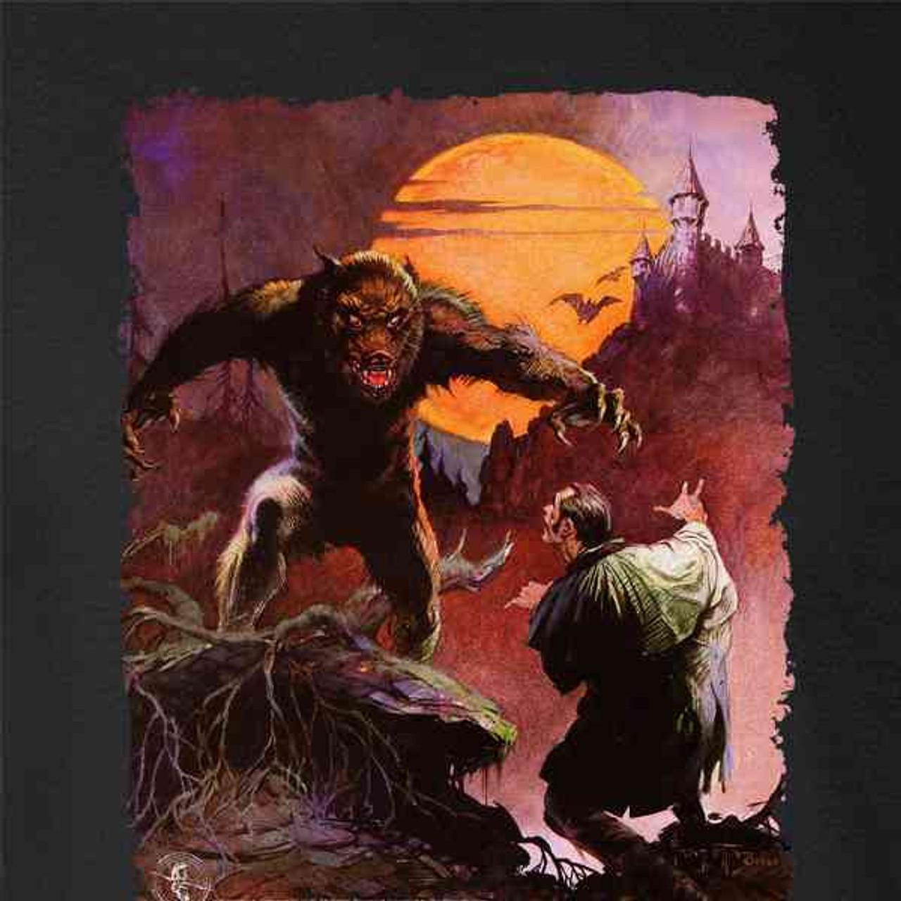 Wolfman by Frank Frazetta Art Mens Fleece Hoodie Sweatshirt