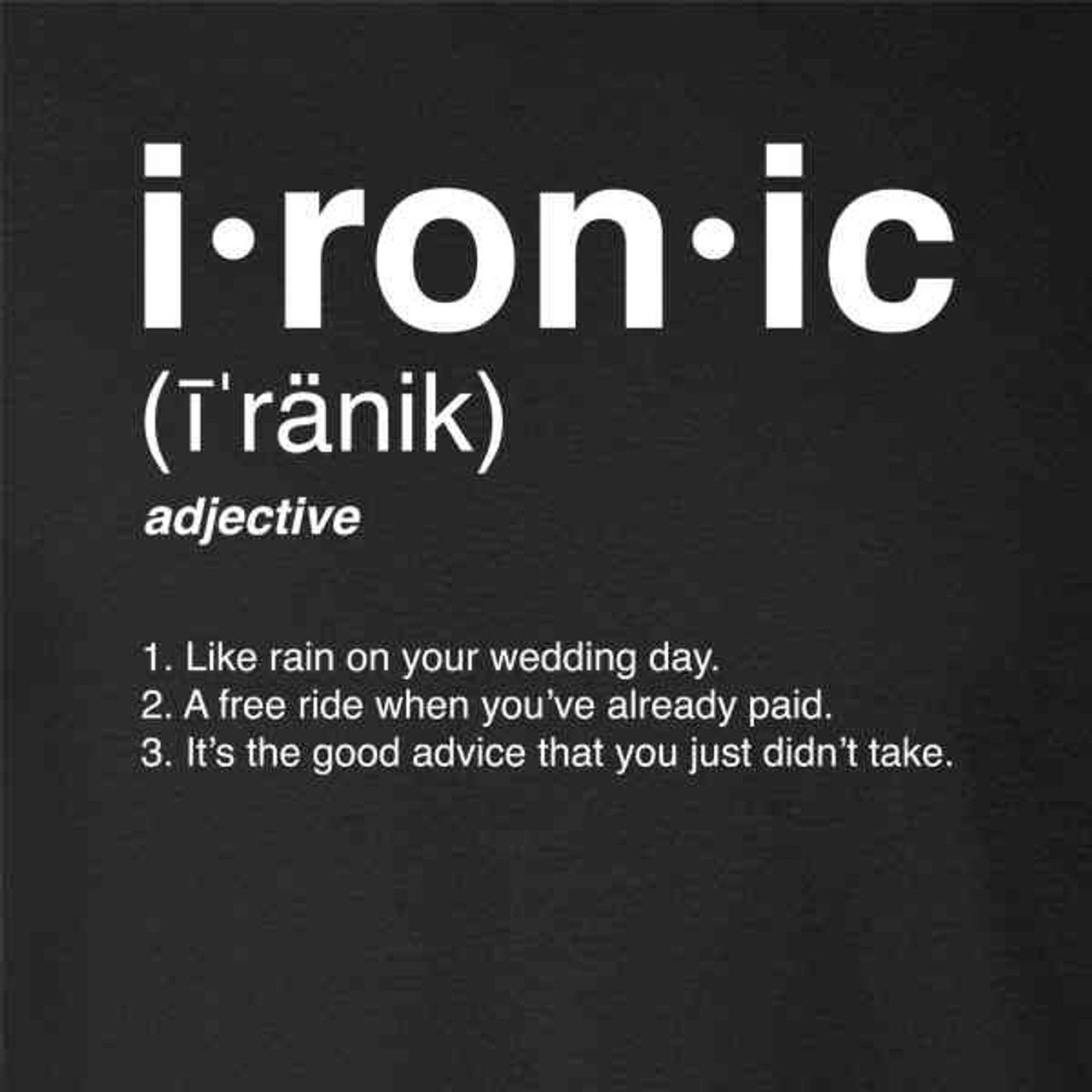 Ironic Isn't It? Definition 90s Song Funny - Pop Threads