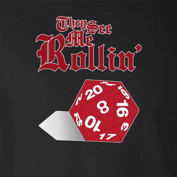 Pop Threads They See Me Rollin D20 Mens Tank Top