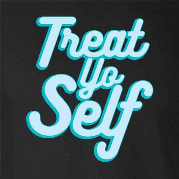 Treat Yo Self Funny Retro Holiday Quote