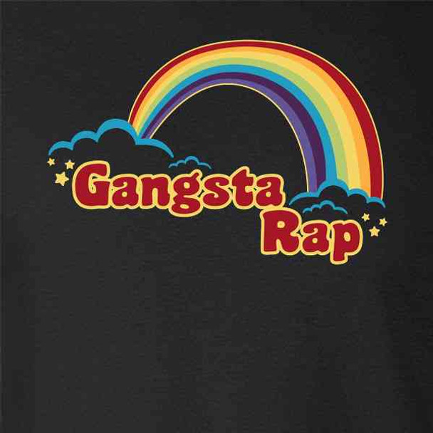 Gangsta Rap Retro Rainbow Funny Music
