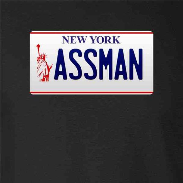 ASSMAN New York License Plate