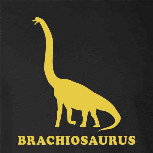 Brachiosaurus Retro Dinosaur Silhouette