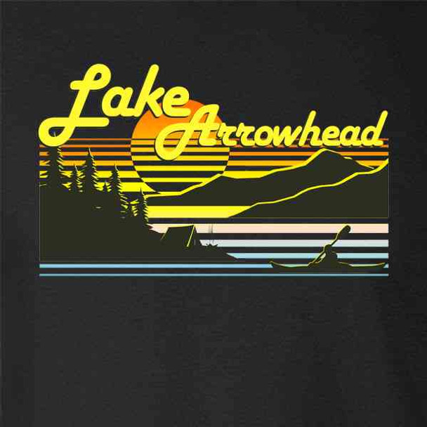 Lake Arrowhead California Retro Lake