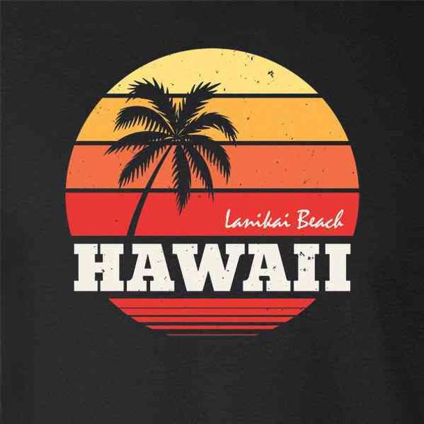 Hawaii Lanikai Beach Retro