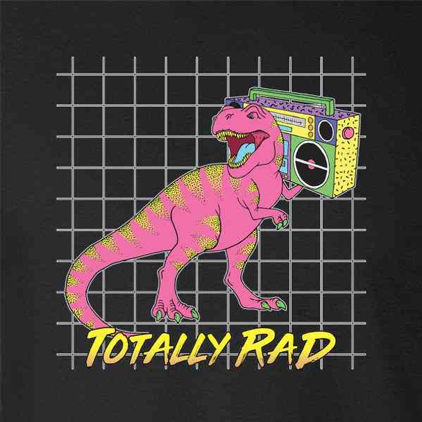 Totally Rad T Rex With Boombox 90s Aesthetic