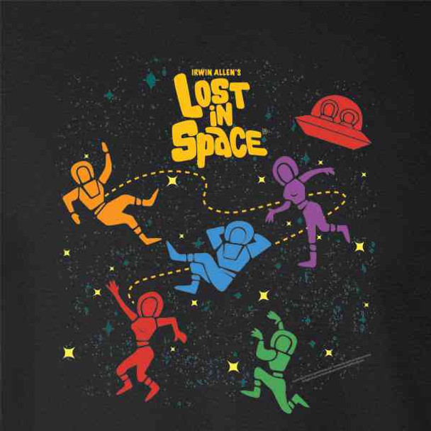 Lost in Space Floating Cast Retro SciFi TV Show