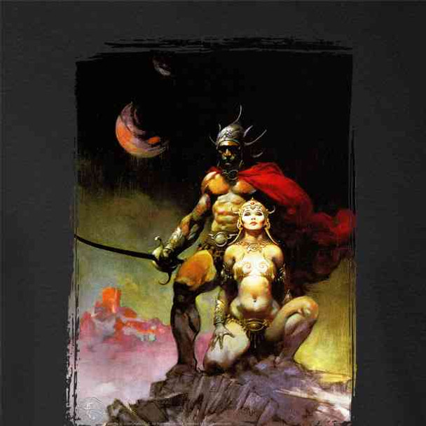Swords of Mars by Frank Frazetta Art