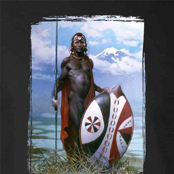 Masai Warrior by Frank Frazetta Art