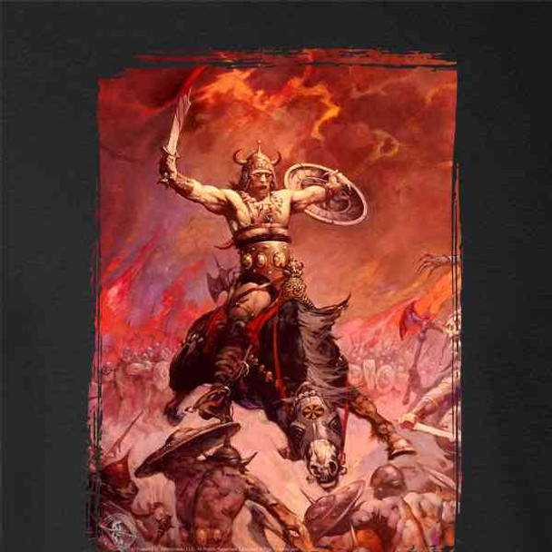 The Berserker by Frank Frazetta Art