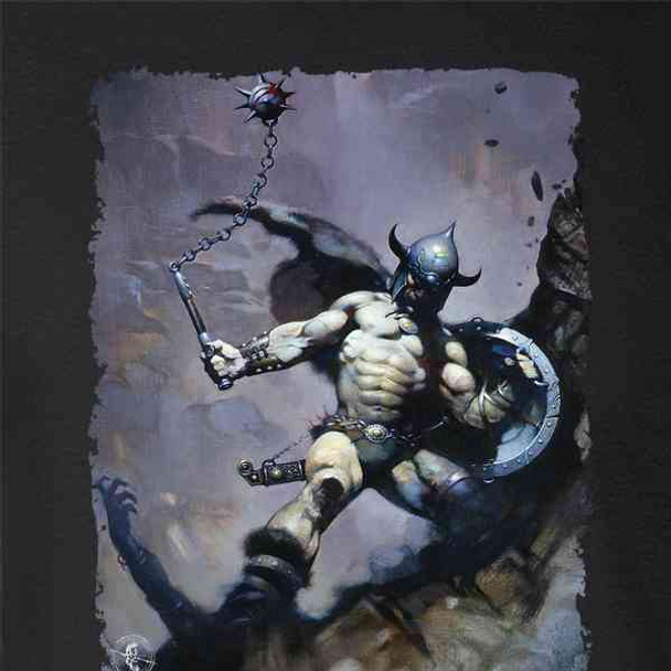 Warrior with Ball and Chain by Frank Frazetta Art