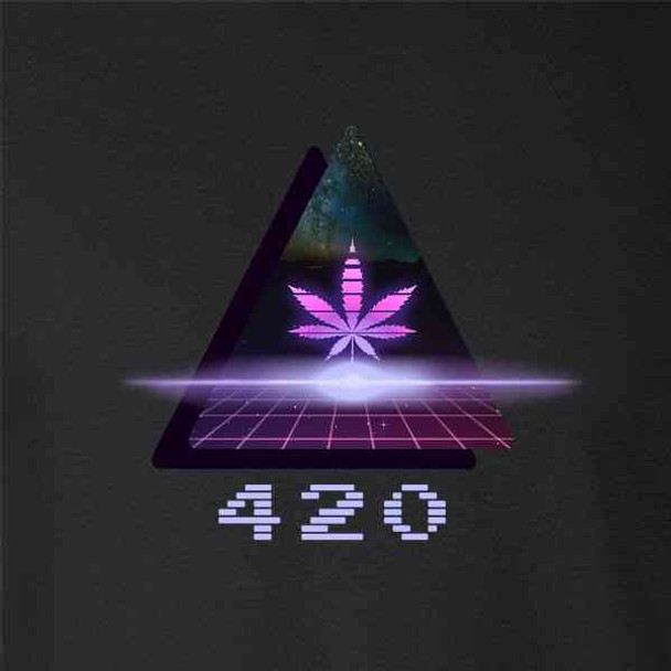 420 Retro 80s Lasers Marijuana Pot