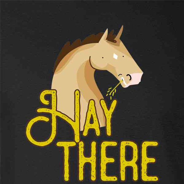 Hay There Horse Funny Graphic Pun Punny