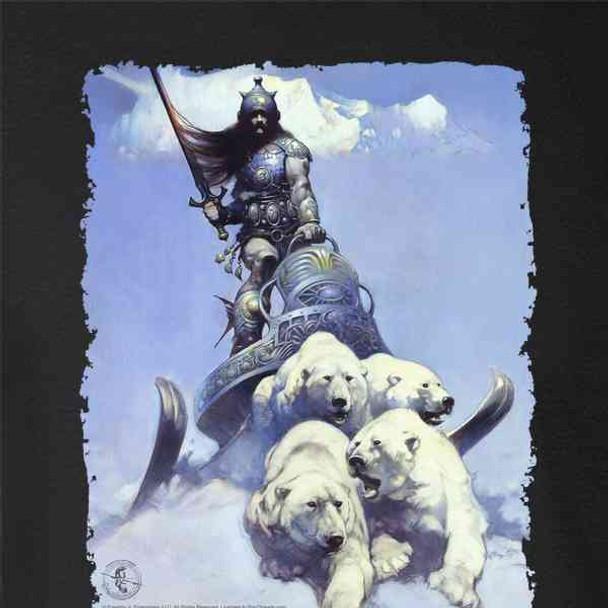 Silver Warrior by Frank Frazetta Art
