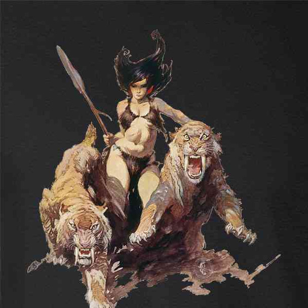The Huntress by Frank Frazetta Art