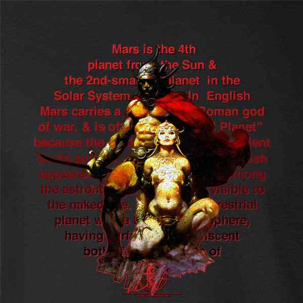 Mars The Red Planet by Frank Frazetta Art