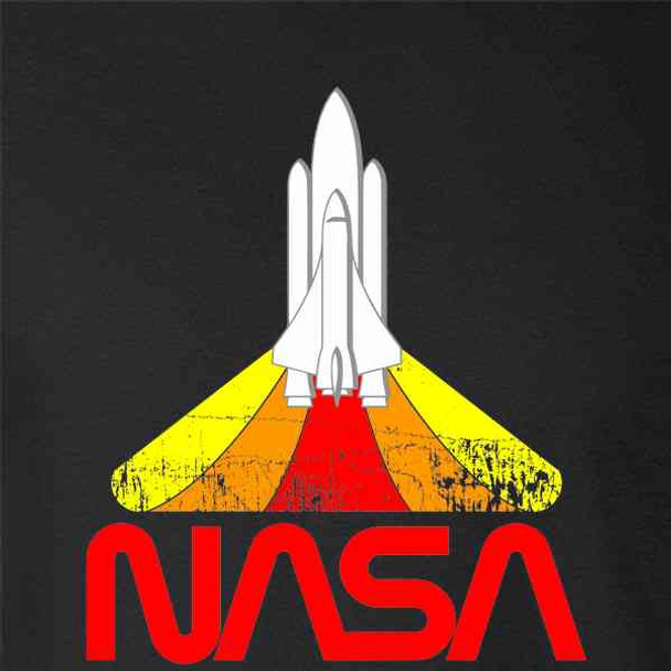 NASA Approved Blast Off Retro Worm Logo