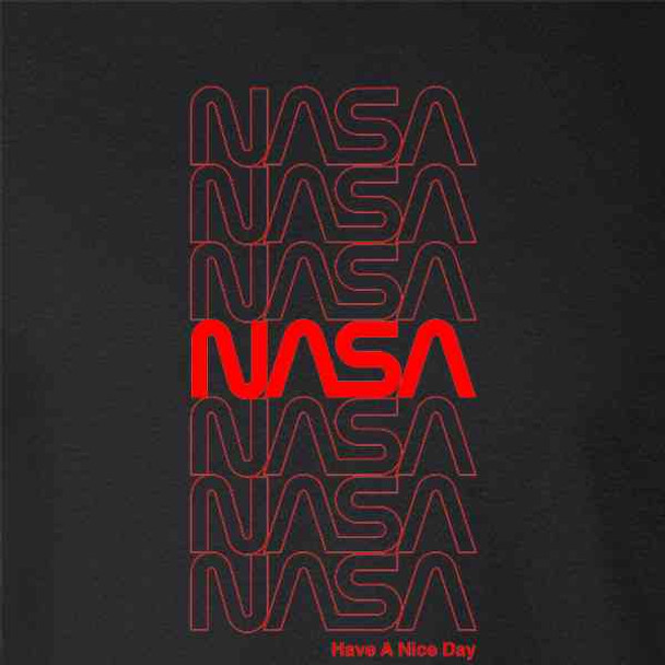 NASA Approved Retro Repeating Worm Logo