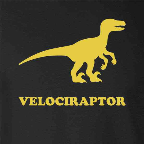 Velociraptor Retro Dinosaur Silhouette 80s