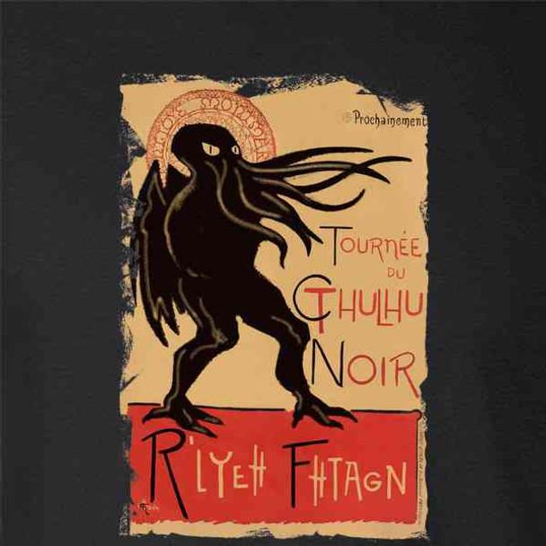 Cthulhu Noir Funny Monster Halloween Horror Goth
