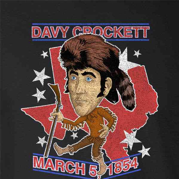 Davy Crockett Retro History Hero Caricature