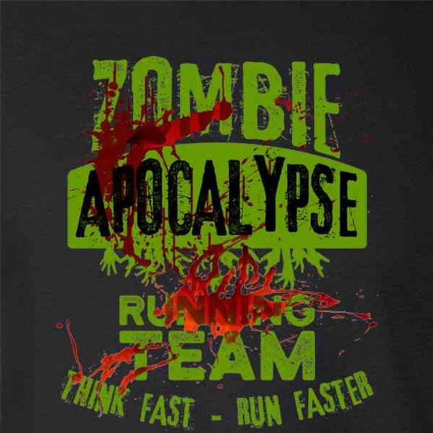 Zombie Apocalypse Running Team Bloody Halloween