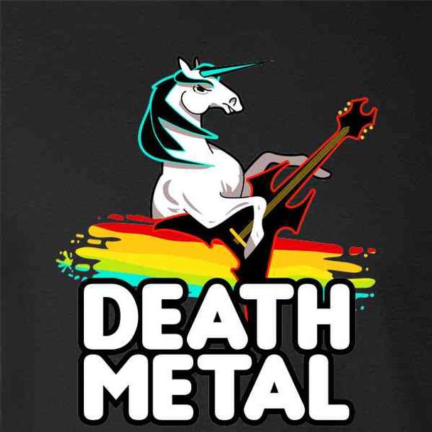Death Metal Unicorn Retro Rainbow Funny