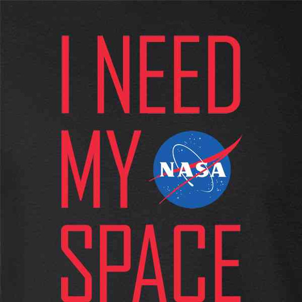 NASA Approved I Need My Space Meatball Logo Funny