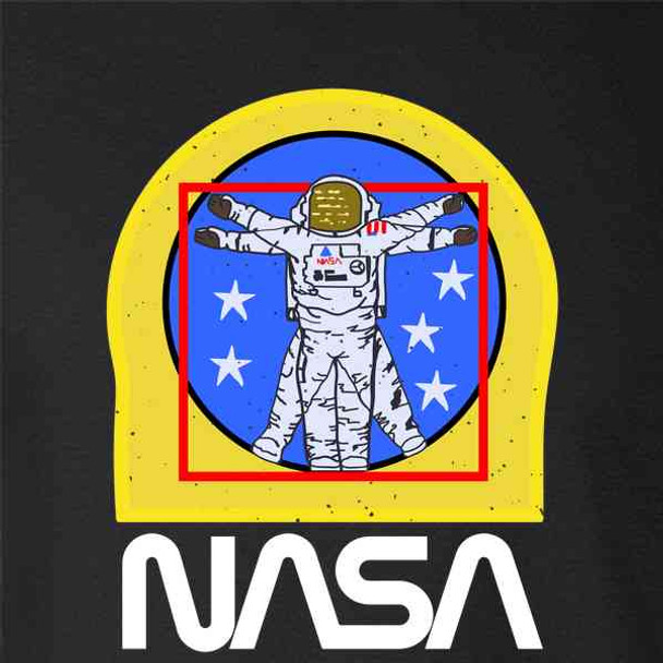NASA Approved Vitruvian Astronaut EVA Patch Logo