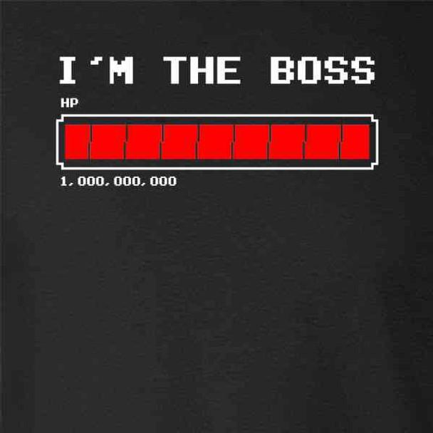 I'm The Boss Lifebar Video Gaming Gamer Funny