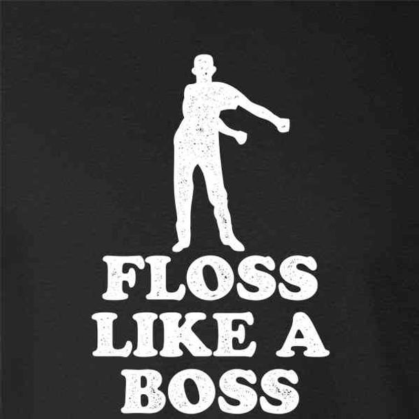 Floss Like A Boss Dance Silhouette Funny