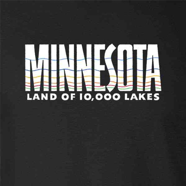 Minnesota Land of 10000 Lakes Retro Vintage Travel