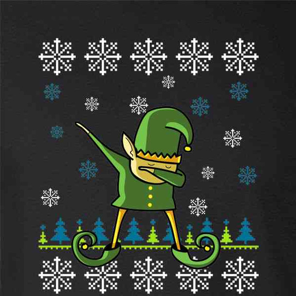 50070e5b Elf Dabbing Christmas Holiday Funny Sweater Style - Pop Threads