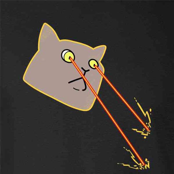 Laser Cat Comic Cartoon Cute Funny
