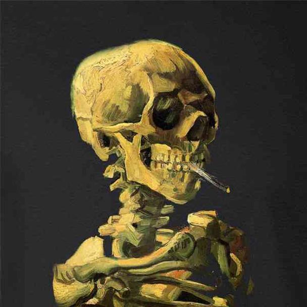 Skeleton Smoking Cigarette Vincent Van Gogh Art