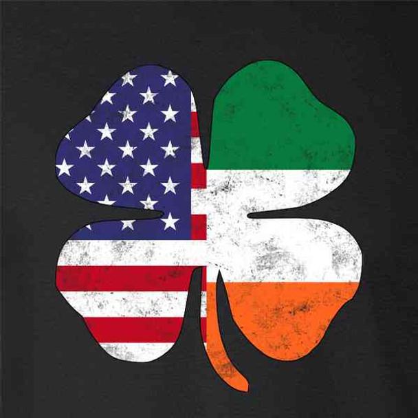 Irish American Flag Shamrock St. Patricks Day