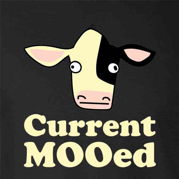 Current MOOed Cow Funny Pun Cute