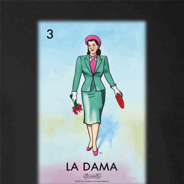 La Dama Woman Lady Loteria Card Mexican Bingo