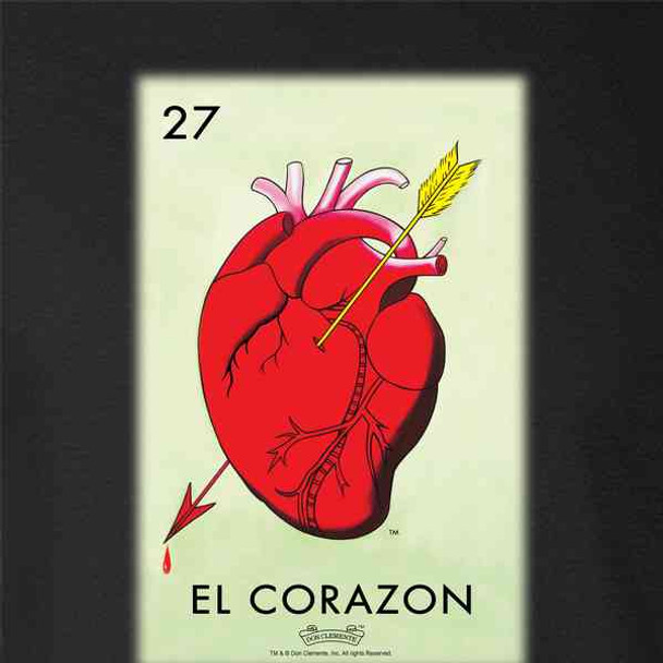 El Corazon Heart Loteria Card Mexican Bingo