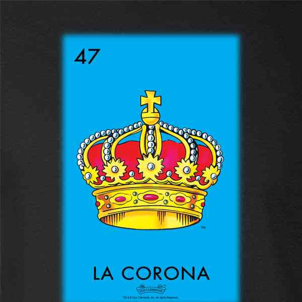 La Corona Crown Loteria Card Mexican Bingo
