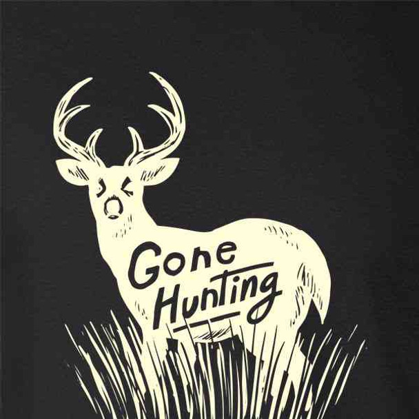 Gone Hunting Deer Retro Vintage Hunter