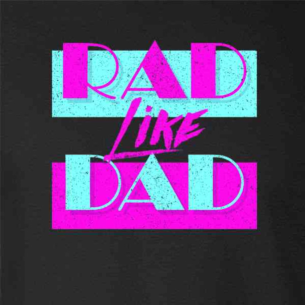 Rad Like Dad Gift For Dad Retro Graphic Aesthetic