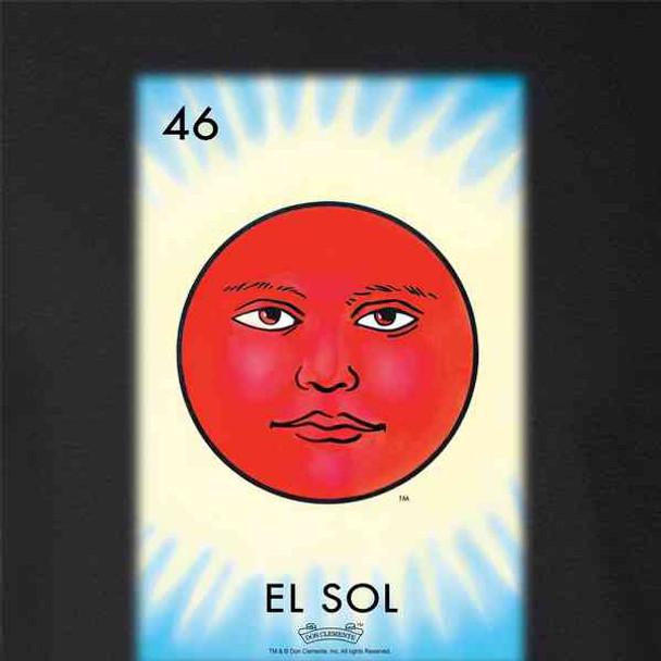 El Sol Sun Loteria Card Mexican Bingo