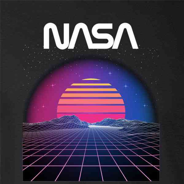 NASA Approved Retro Space Landscape 80s Electro